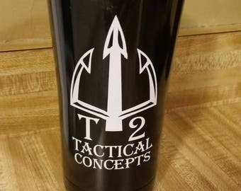 Black T2Tactical Concepts Tumbler