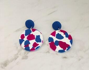 Circle drop earrings - 'Christie'