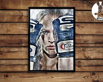 Ronda Rousey print wall art home decor poster