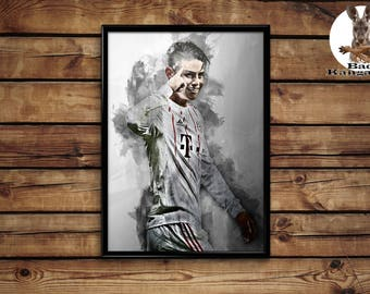 James Rodriguez print wall art home decor poster