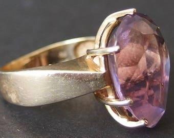 Vintage 14 Karat Gold Amethyst Ring