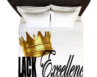 Black Excellence Duvet Black Pride Bedding Decor HBCU Design Decor Back Pride accessories