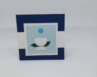 First Communion-Greeting card (size 11 x 11 cm)-communion-Eucharist-Handmade