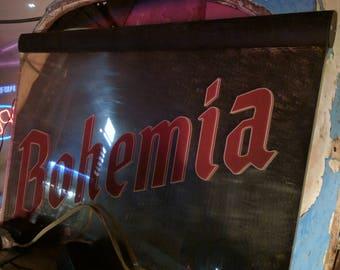 Original Bohemia Mirror Ad with light