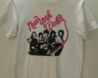 New York Dolls Vintage T Shirt 1990s Johnny Thunders