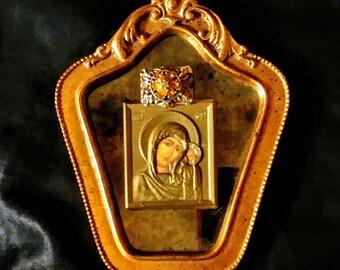 Framed and jeweled Mary Jesus