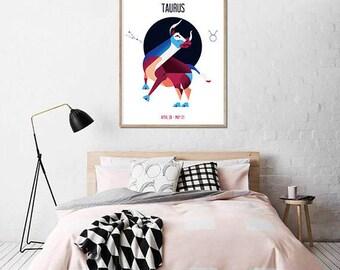 Taurus - Zodiac Print