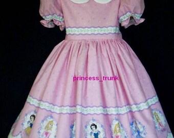 NEW Handmade Disney Princess Cute Border Deluxe Dress Set Custom Size