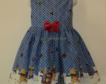 NEW Handmade Disney Winnie the Pooh/Tiger Christmas Deluxe Dress Custom Size
