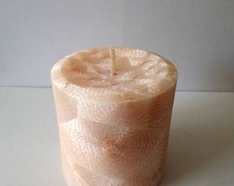 Feathered Palm Wax Candle