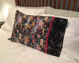 Vintage Comics and Sabers No Seam Pillowcase
