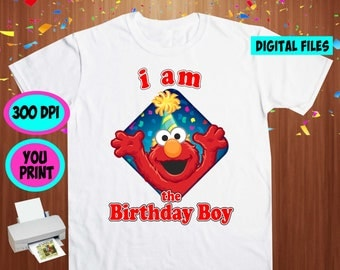 Sesame. Iron On Transfer. Sesame Printable DIY Transfer. Sesame Birthday BOY Shirt DIY. Instant Download. Digital Files Only.