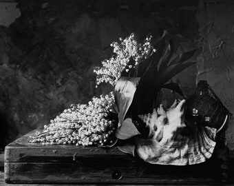 """Black&White photography. """"Lilies of the valley"""" / 2014 / Silver bromide author's print"""