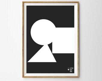 Black & White Shapes Print