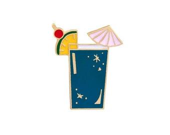 Blue cocktail badges