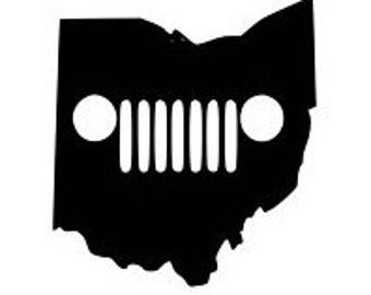 Ohio Jeep Vinyl Decal