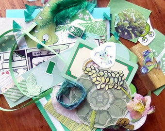 Green - Paper Ephemera Kit