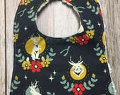 Gender Neutral Bib in Jackalope Fabric - Baby Shower Gi...