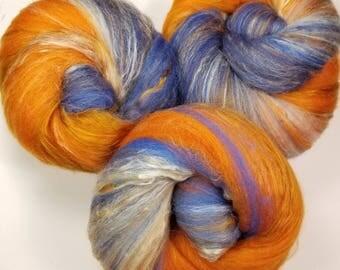Lucky Fish -- classic batts -- (4.2 oz.) merino wool, bamboo, silk.