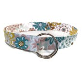 Women's Funky Multicolor Gray Floral Belt