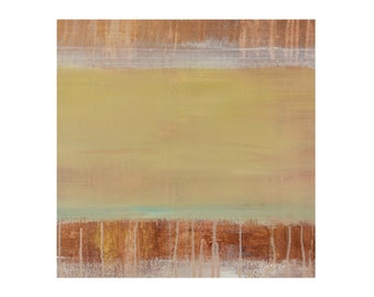ORIGINAL Abstract Painting Warm Earth Tones, Sand Grass 2 by Lisa Carney, Contemporary Landscape Art, Minimalist, Sand Dune, Coastal, Modern