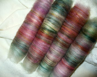 Wool Blend Rolags for Handspinning Yarn or Felting