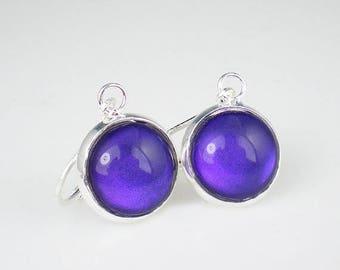 SUMMER SALE Deep Violet Blue Nail Polish Earrings Let's Talk Nail Polish Jewelry