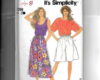 Simplicity Misses' Pullover Tops and Culottes in Two Lengths Pattern 7096
