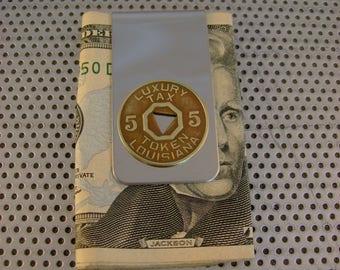 Tax Man - 1938 Louisiana Tax Token Money Clip Man Gift, Wedding, Groomsman Gift, Fathers Day Gift