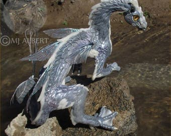 Dragon Doll Water Sculpture Collectible Art OOAK