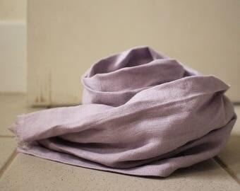 LINEN SCARF / lavender grey / handmade in australia / pamelatang
