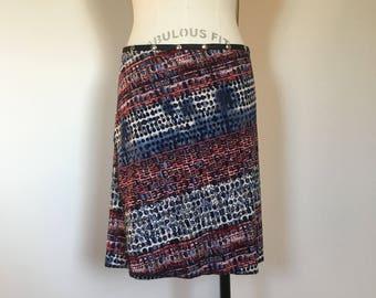"""Wrap skirt, yoga skirt, travel skirt, cover up, Snap Around Skirt. """"Classic Print"""" Erin MacLeod,"""