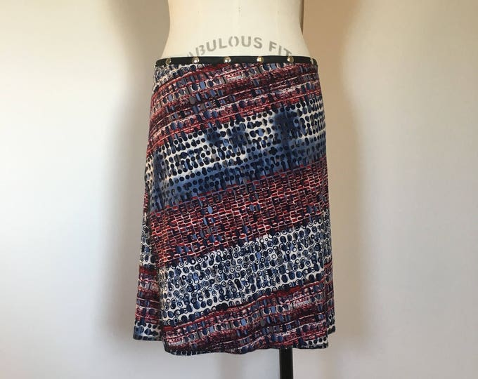 "Wrap skirt, yoga skirt, travel skirt, cover up, Snap Around Skirt. ""Classic Print"" Erin MacLeod,"
