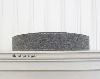 Fabric Headband Indigo Blue Linen Womens Headband  Womens Hair Accessories