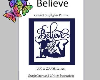 Believe - Crochet Graphghan Pattern