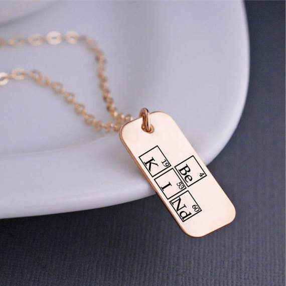 Be Kind Periodic Table Elements Necklace