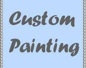 Custom portrait featuring 2 people in landscape