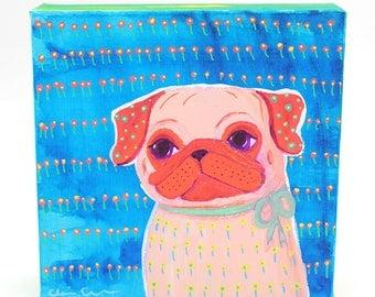 Pug Dog Lover Art Gift, Dog Lover Gifts For Women, For Men, Pug Gift For Her, Pug Art, Funny Animal Art Print, Boho Mom Gift, Sister Gift