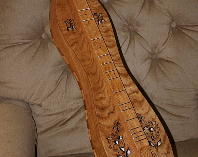Custom Wormy Chestnut over Cherry Mountain Dulcimer, with optional electric, and optional double back