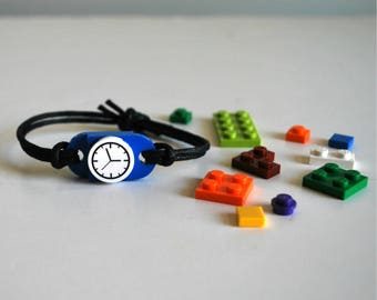 Play Day Lego Bracelet in Blue: Build Your Own LEGO Jewelry - Play Build Create - Upcycled - Kids Jewelry - Tweens - Stocking Stuffer - Boy