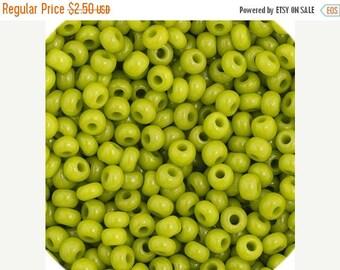 Summer Sale 11/0 Preciosa Opaque Olive Green Premium Seed Beads50grams - 1024B