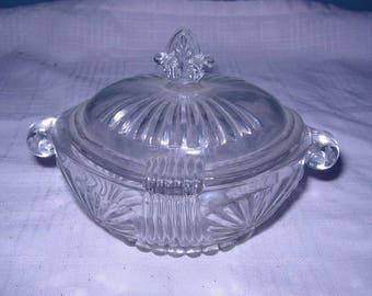 EAPG sugar bowl with lid