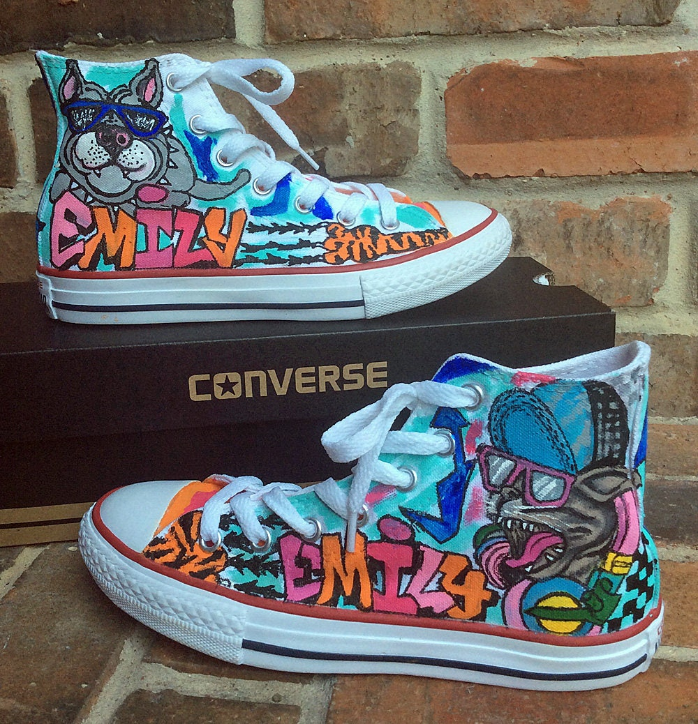 Custom Converse Handpainted Shoes Graffiti Art Painted