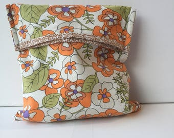 Project Bag Fold Over - Sock Knitting Bag - Sock Sack - Knitting Project Bag - Sock Knitting Pouch - (Small)