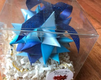 Blue Star Sphere Ornament (3.5inches)