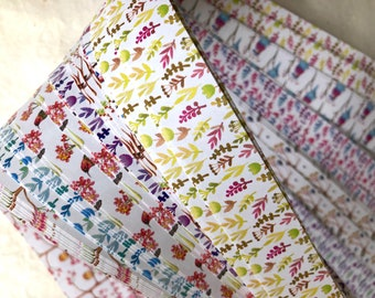 Spring Birds Branches Flowers~ Weaving Star Paper (52 strips)