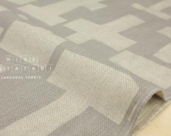 Japanese Fabric Kokka 3 min. - dark woods - grey - 50cm