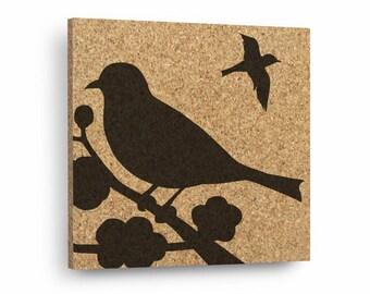 BIRDS Mix & Match Cork Decor Art Tiles Or Kitchen Trivet - Wall DéCork