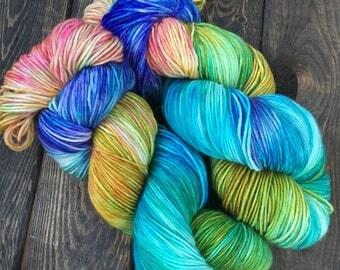 Hand Dyed Sock Yarn - Classic Sock - 75/25 Superwash Merino Wool/Nylon - 100g skein - Western Brook Pond