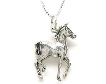 SALE Horse Colt Sterling Silver Animal Pendant Charm Customize no. 2176